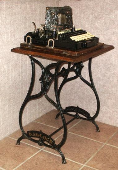 Bar Lock Cast Iron Typewriter Stand With Bar Lock 4